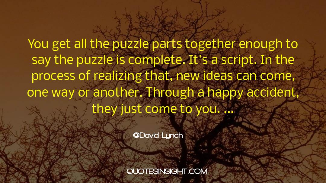Puzzles quotes by David Lynch