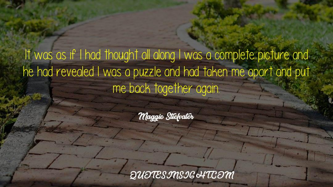 Puzzles quotes by Maggie Stiefvater