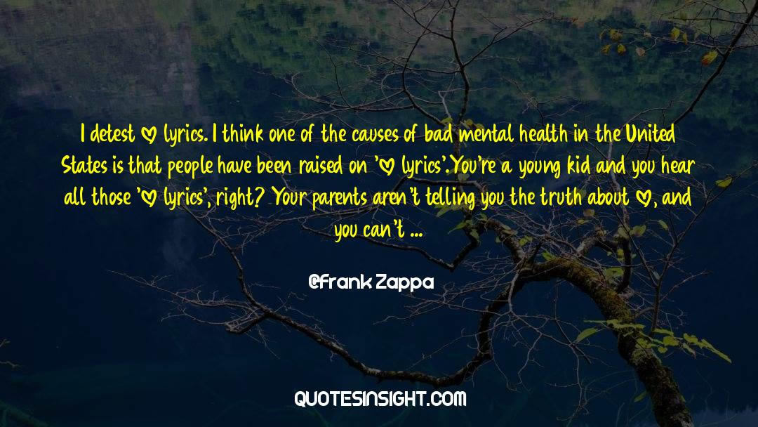 Reality Of Life quotes by Frank Zappa