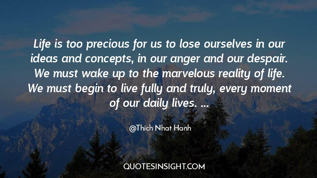 Reality Of Life quotes by Thich Nhat Hanh