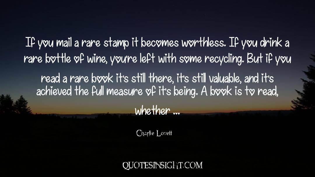 Recycling quotes by Charlie Lovett