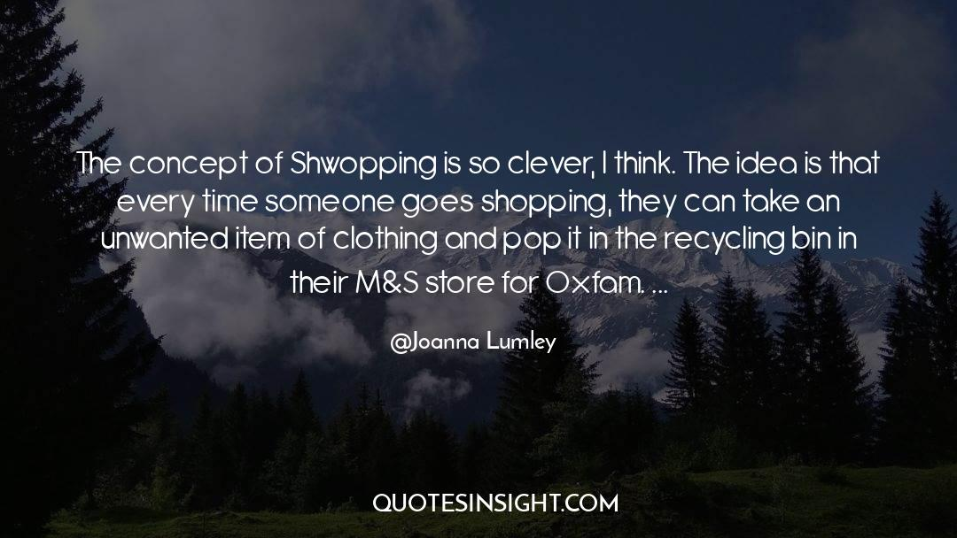 Recycling quotes by Joanna Lumley