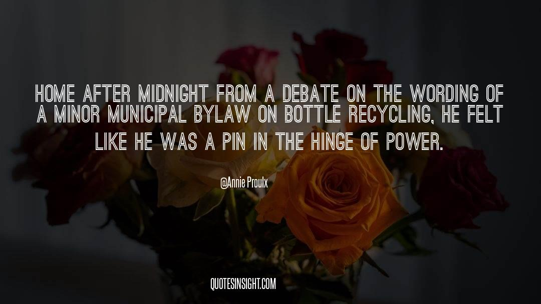 Recycling quotes by Annie Proulx