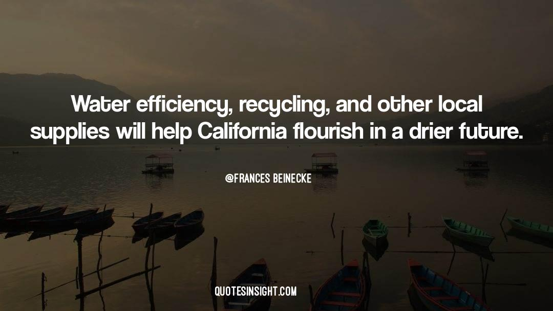 Recycling quotes by Frances Beinecke