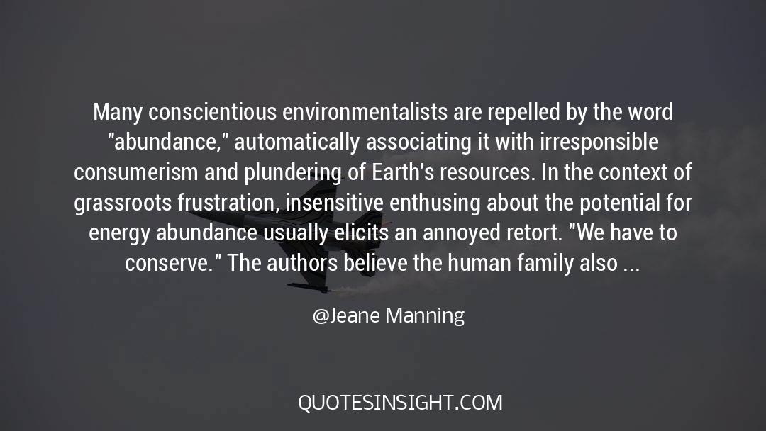 Recycling quotes by Jeane Manning