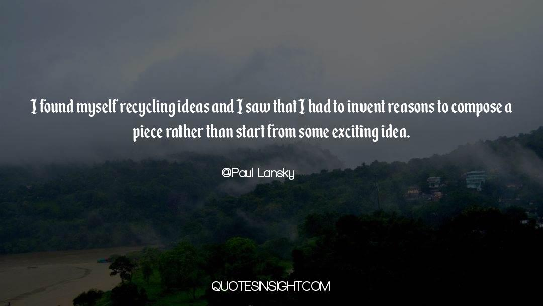 Recycling quotes by Paul Lansky
