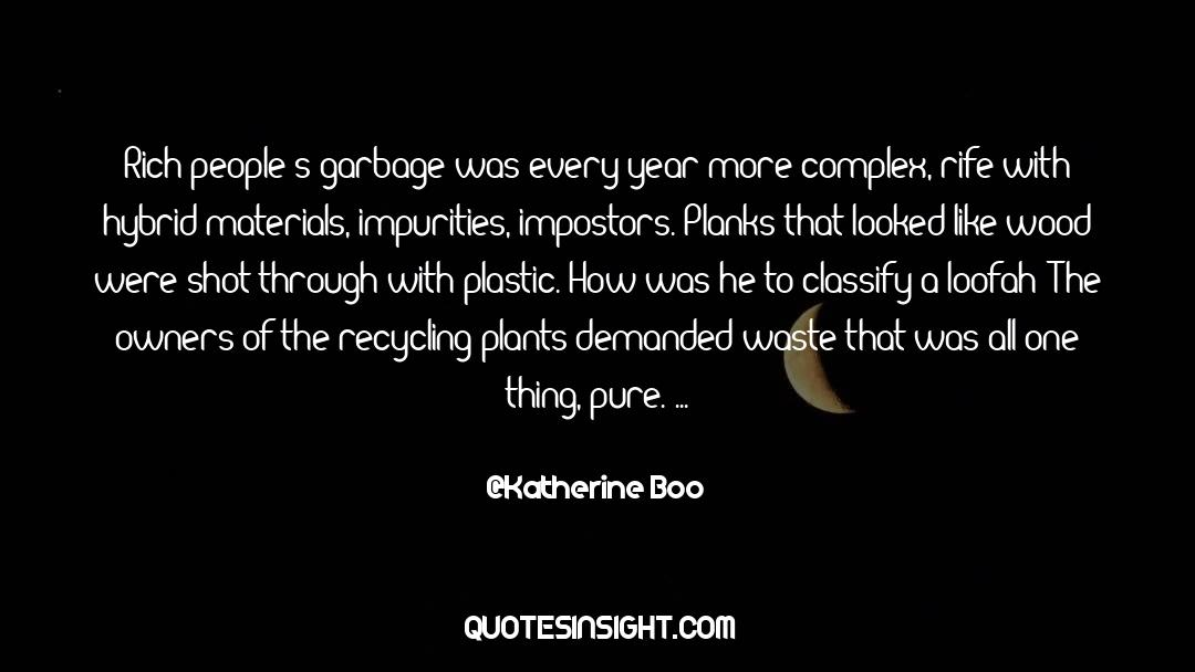 Recycling quotes by Katherine Boo