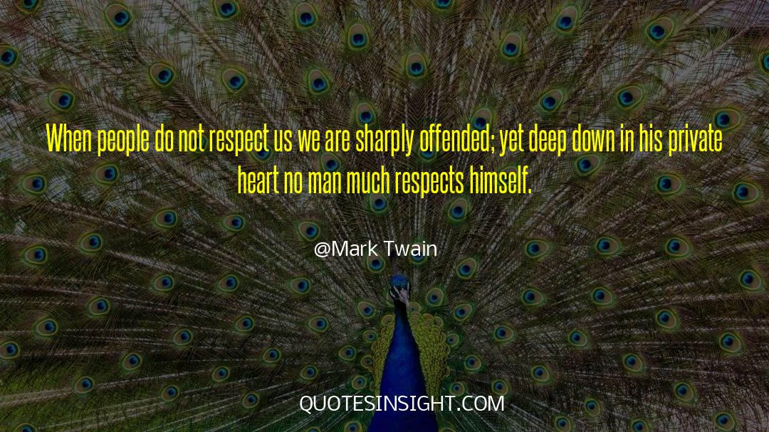 Respect quotes by Mark Twain