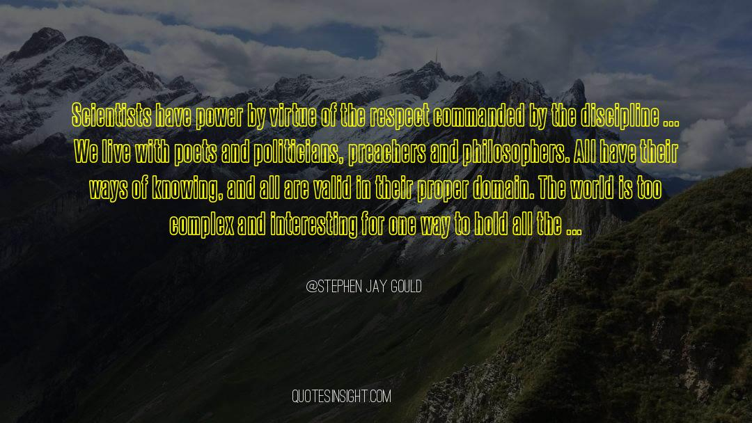 Respect quotes by Stephen Jay Gould