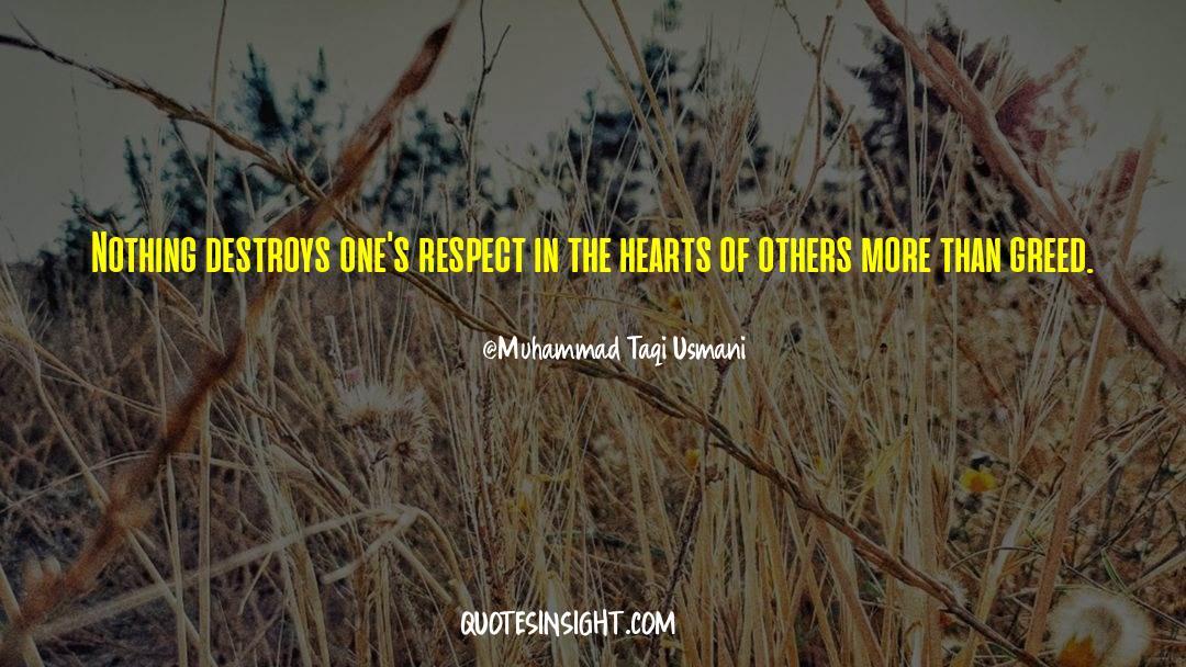 Respect quotes by Muhammad Taqi Usmani