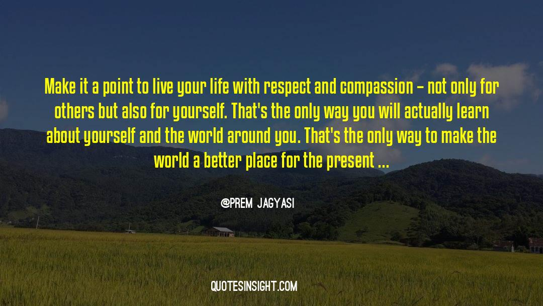 Respect quotes by Prem Jagyasi