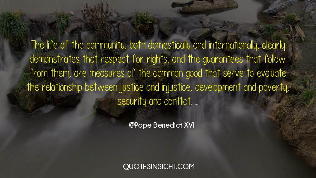 Respect quotes by Pope Benedict XVI