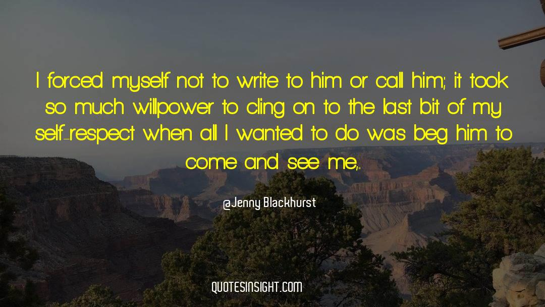Respect quotes by Jenny Blackhurst