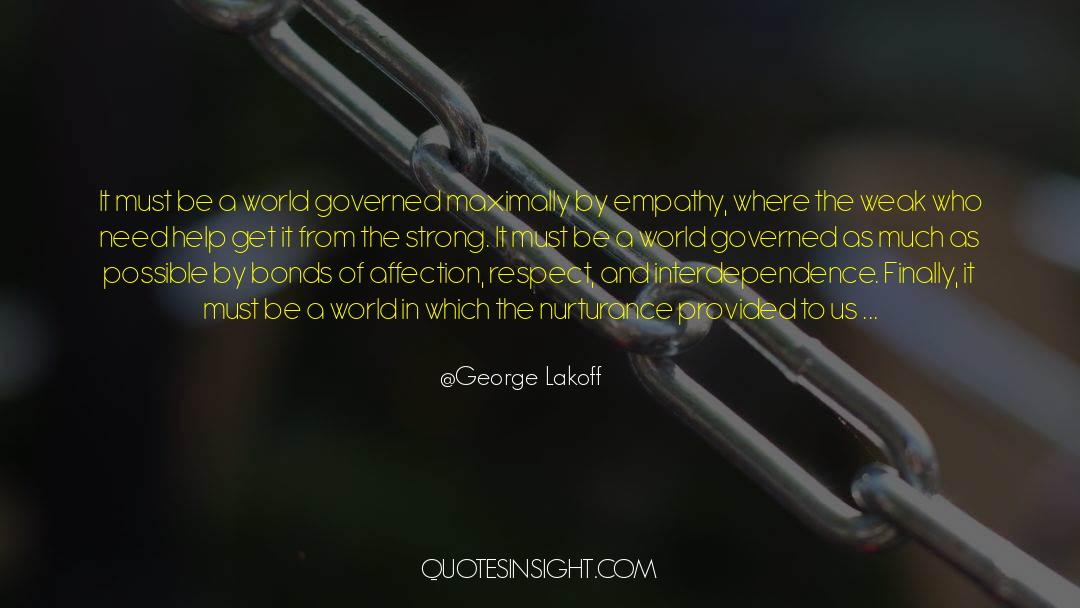 Respect quotes by George Lakoff