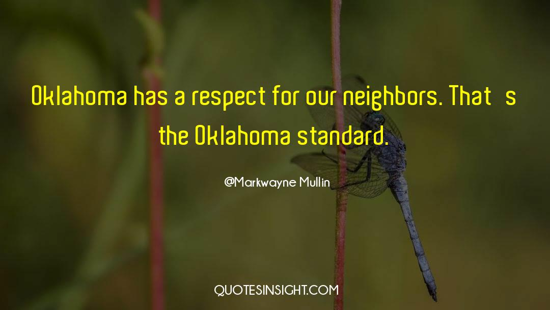 Respect quotes by Markwayne Mullin