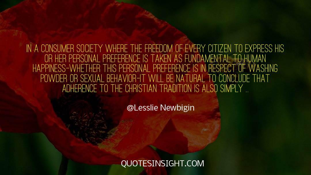 Respect quotes by Lesslie Newbigin
