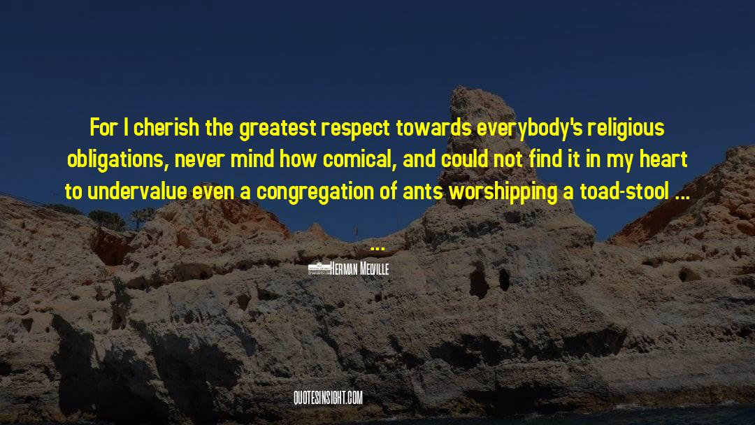 Respect quotes by Herman Melville