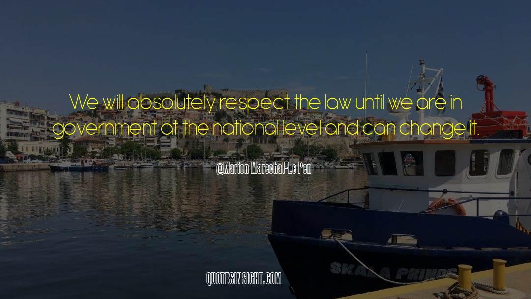 Respect quotes by Marion Marechal-Le Pen