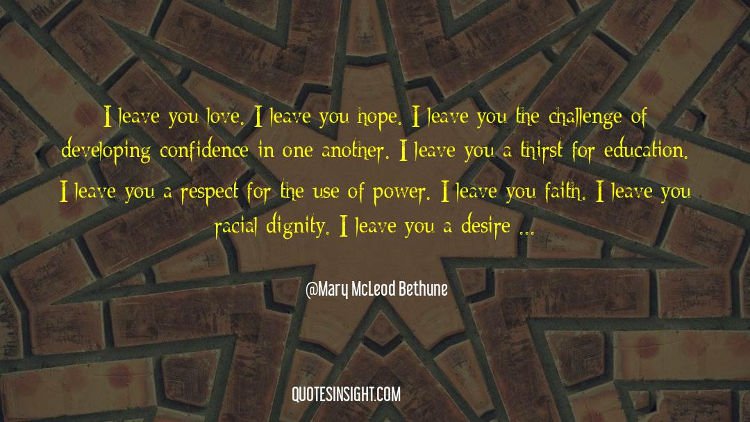 Respect quotes by Mary McLeod Bethune