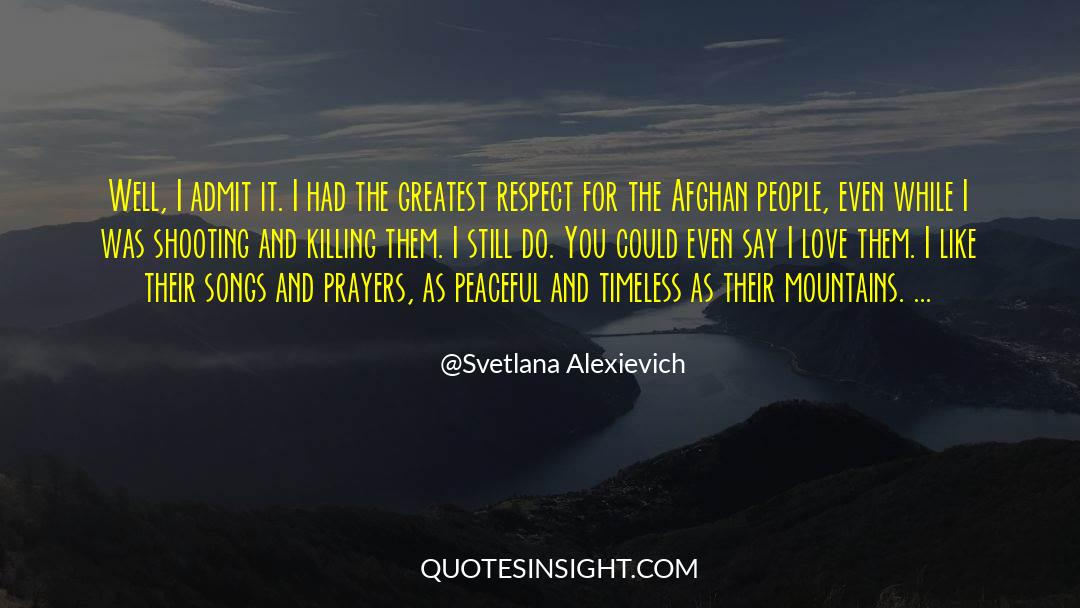 Respect quotes by Svetlana Alexievich