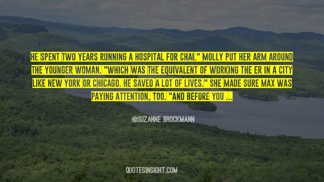 Running Up That Hill quotes by Suzanne Brockmann