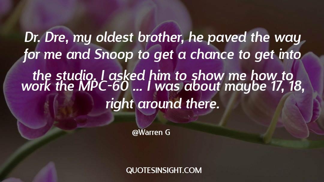 Snoop quotes by Warren G