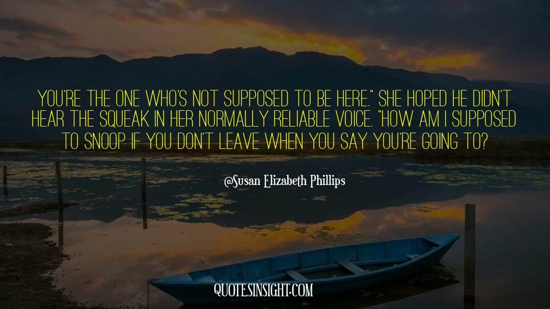 Snoop quotes by Susan Elizabeth Phillips