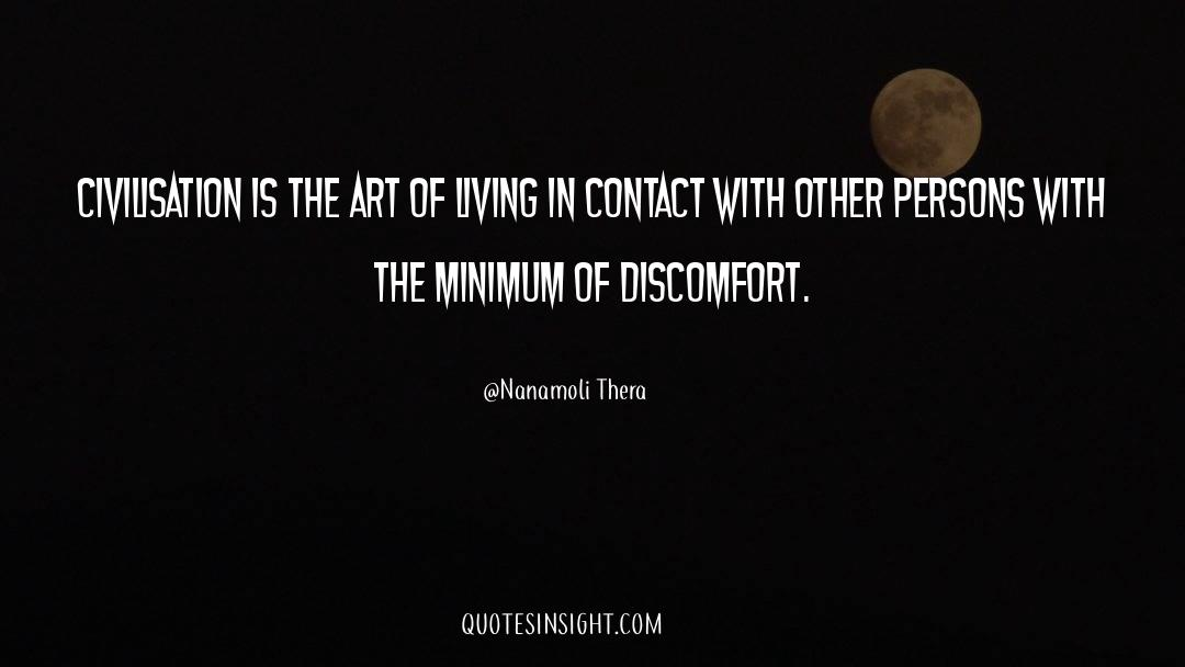 The Art Of Living quotes by Nanamoli Thera
