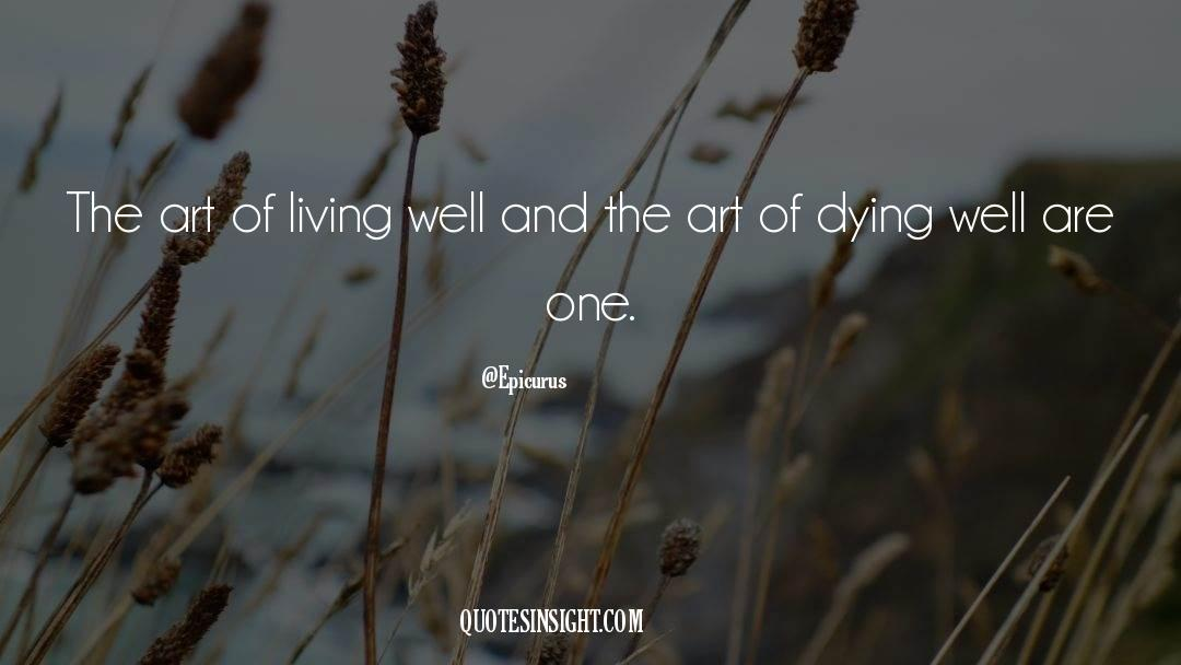 The Art Of Living quotes by Epicurus