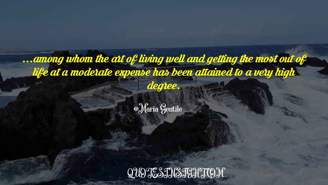 The Art Of Living quotes by Maria Gentile