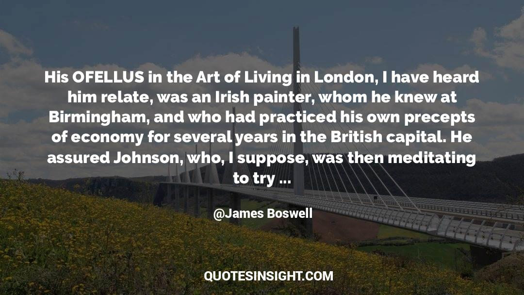 The Art Of Living quotes by James Boswell
