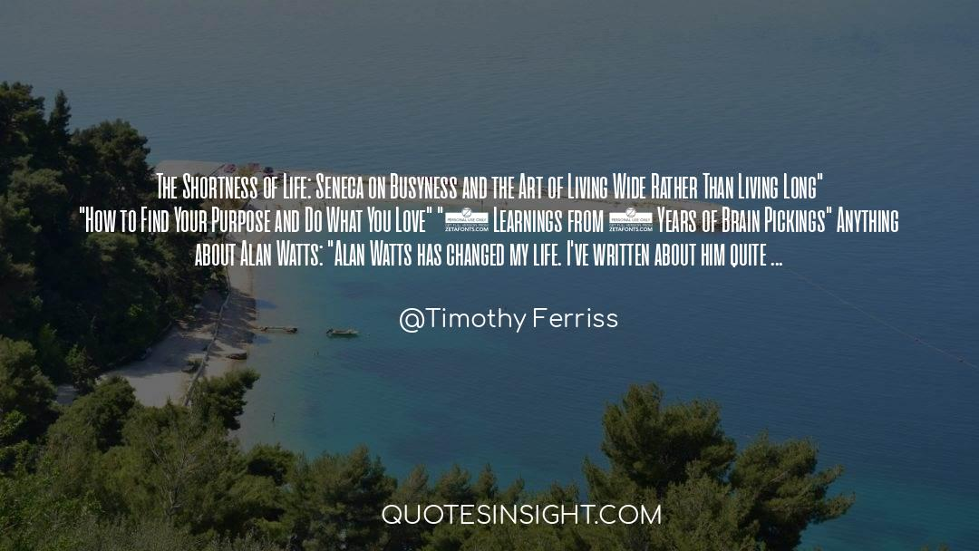 The Art Of Living quotes by Timothy Ferriss