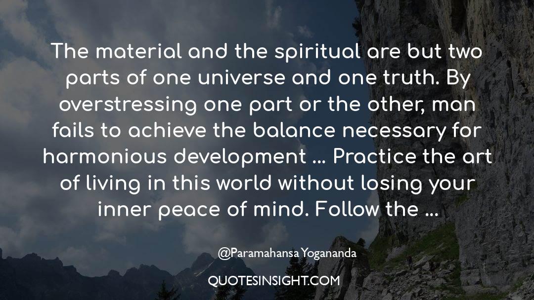 The Art Of Living quotes by Paramahansa Yogananda