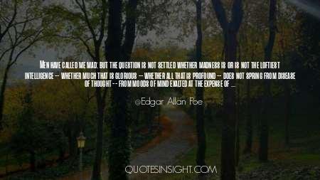 Insanity And Genius Quotes