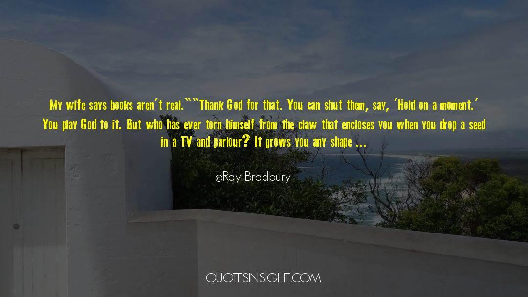 Tv Reporter quotes by Ray Bradbury