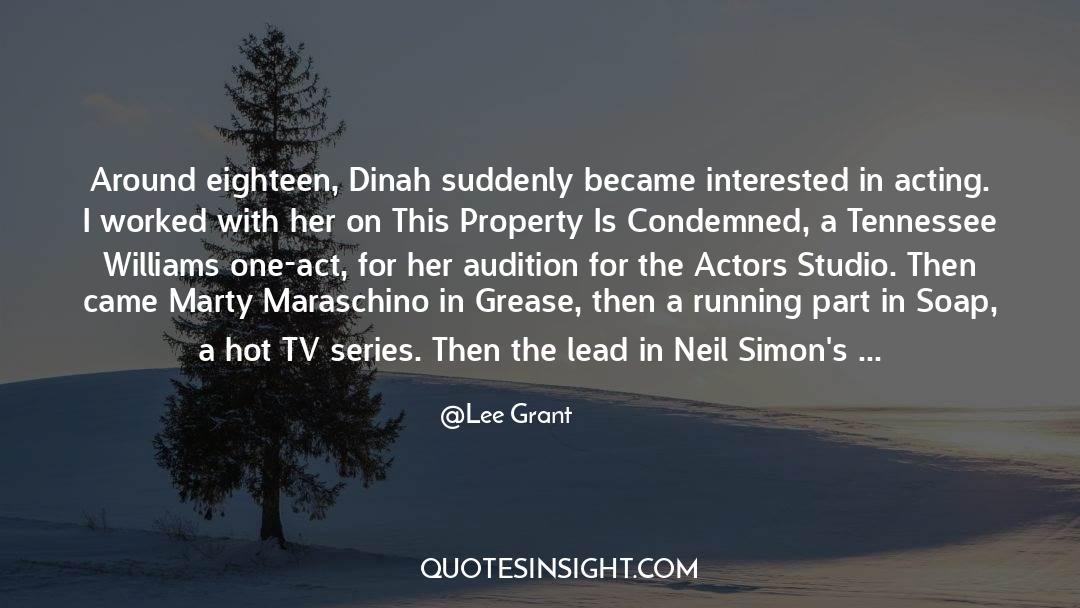 Tv Reporter quotes by Lee Grant