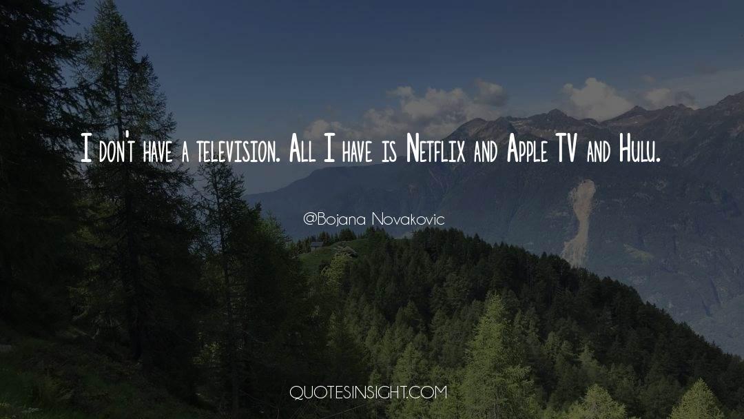 Tv Reporter quotes by Bojana Novakovic