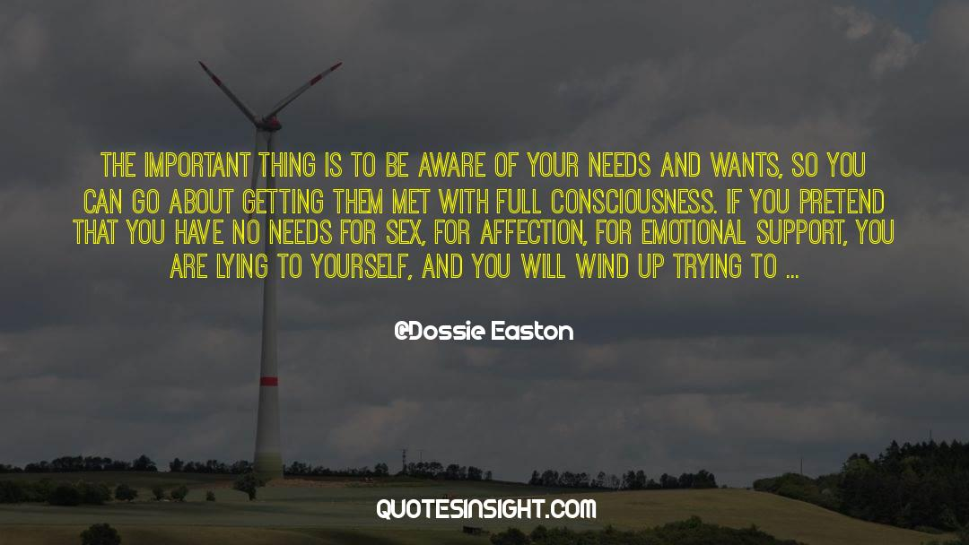 Work And Emotional Commitment quotes by Dossie Easton